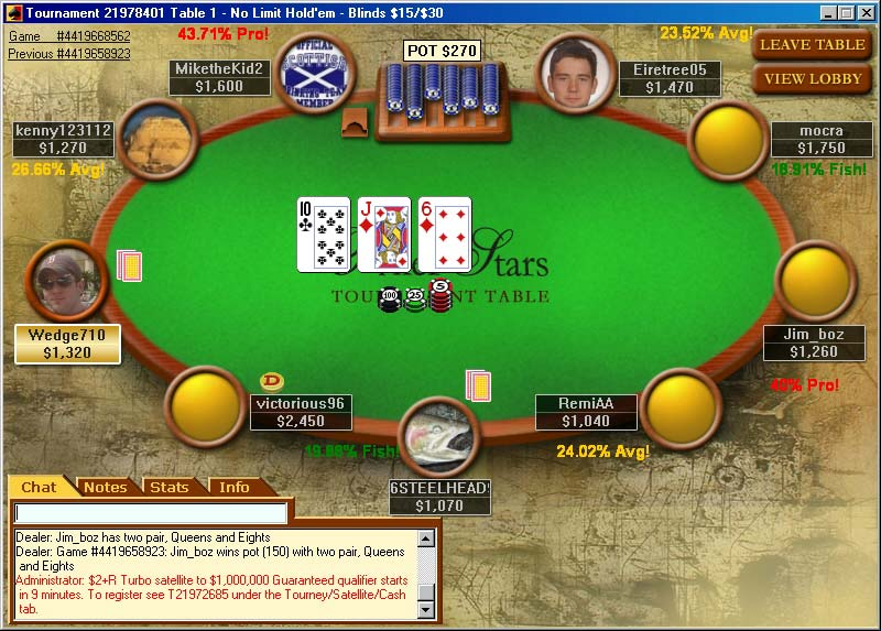Turn poker login